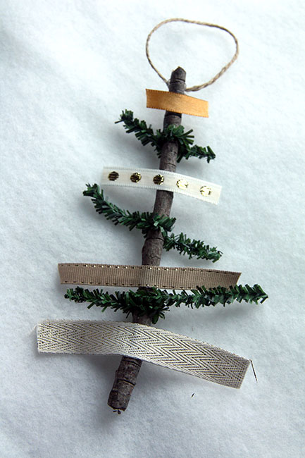 Ribbon-and-Pine-Ornament-on-White
