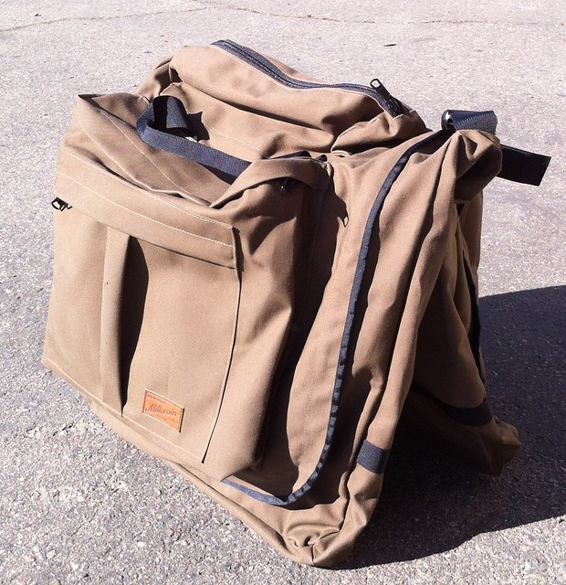 canvas suit bag