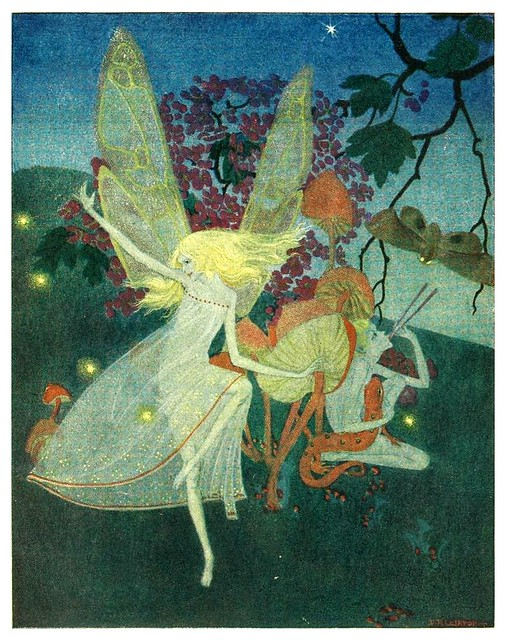 010-Down-adown-derry a book of fairy poems-1922- ilustrada por Dorothy P. Lathrop