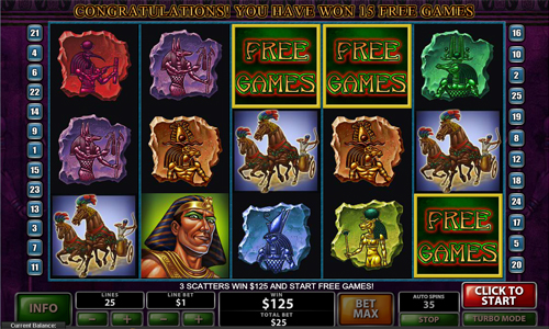 free The Pyramid of Ramesses free spins feature