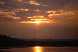 SANY0116: Sunset @ River Zuari-Goa
