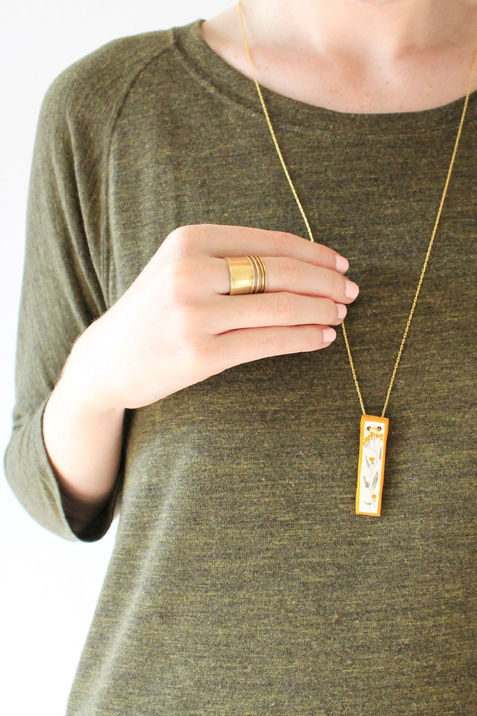 diy: botanical necklace II gingersnapsblog