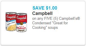 picture relating to Campbell Soup Printable Coupon titled Campbells Superb for Cooking Soup 0.59 and Campbells Soups