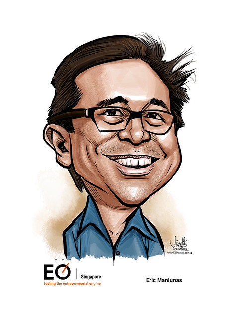 digital caricature for EO Singapore - Eric Manlunas