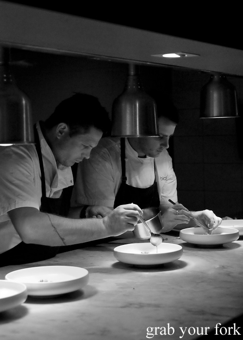 Chefs on the pass at Biota Dining, Bowral