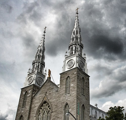 travel ontario canada pope heritage church architecture canon lens rebel site catholic exterior cathedral leo roman interior basilica ottawa gothic sigma style arches ceiling notre dame tours xii steeples hdr act attraction on sli d1000 18250mm onasill snapseed
