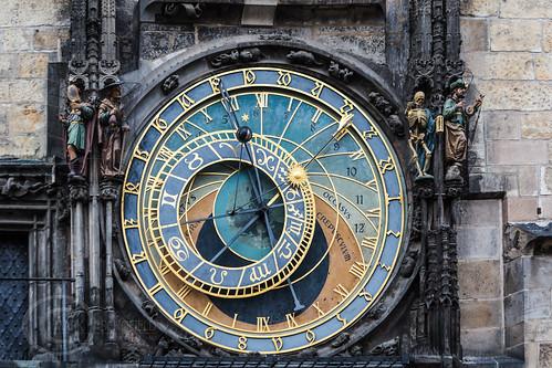 Prague Jan 2015 (7) 242-Edit - Astronomical Clock detail - Old Town Square