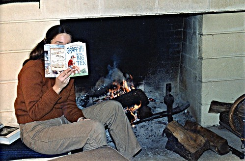 Eleanor by the fireplace, Madison