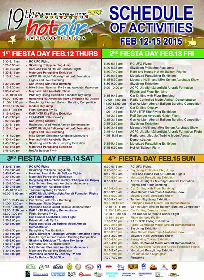 Fiesta Schedule