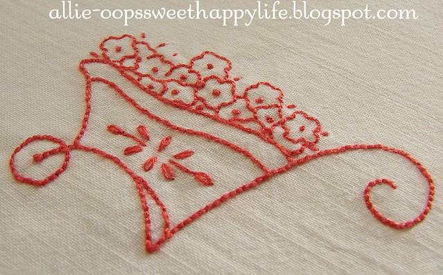 redwork for girls, new pattern