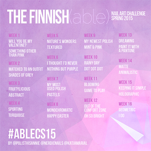 The Finnish(able) Nail Art Challenge, Spring 2015
