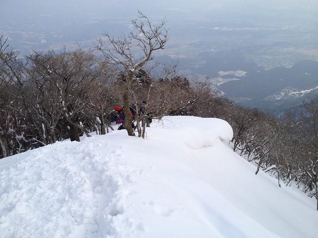 藤原岳 九合目 雪庇