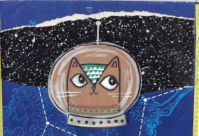 Space Cat Envelope
