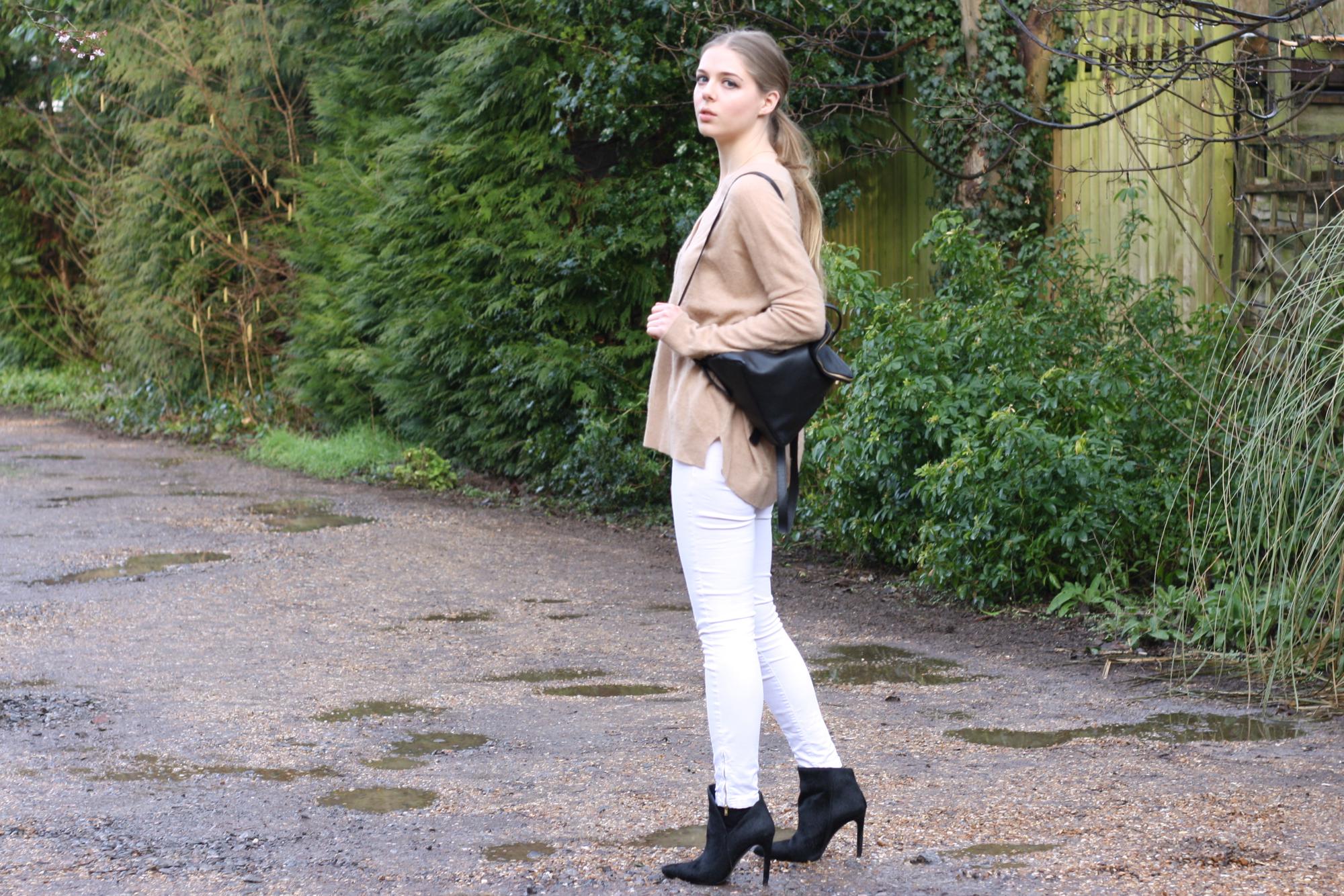 Zara black ponyskin boots