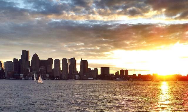 Boston Skyline - Iphone with Basic editing using Pudding Camera App.