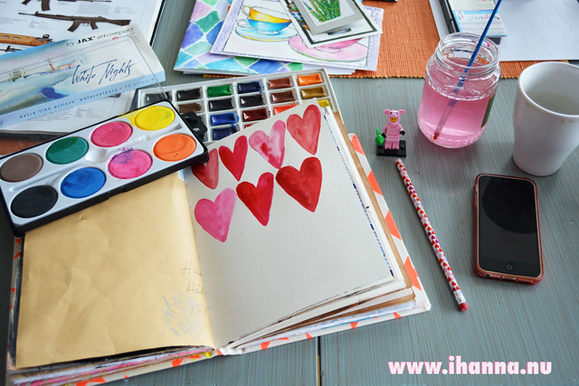 Art Journaling Hearts