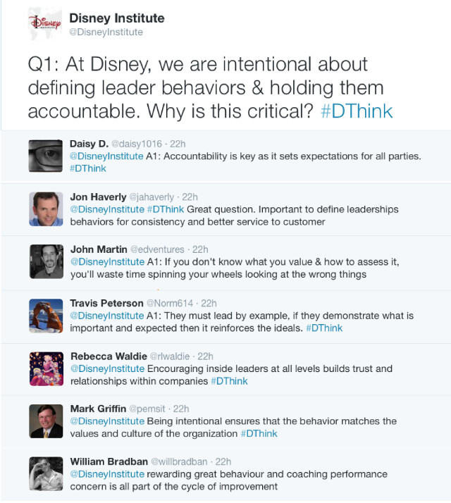 March 4, 2015 #DThink Chat Comments Q1