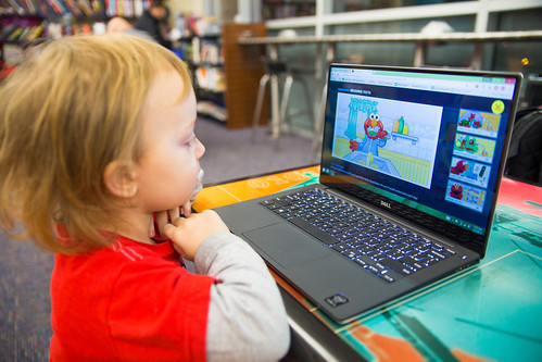 Toddler with Dell XPS 13
