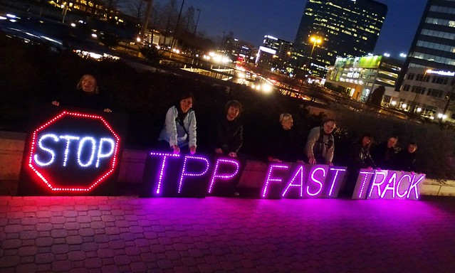 Dallas Rolling Rebellion Advocates for Net Neutrality and Takes on TPP & Fast Track