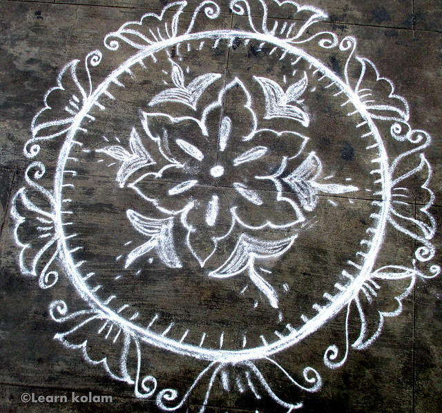 freehand rangoli designs