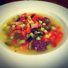 Sopa de verduras con albóndigas para terminar primer día en el #MWC15