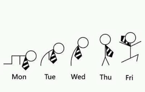 imagen graciosa de viernes evolucion de la semana
