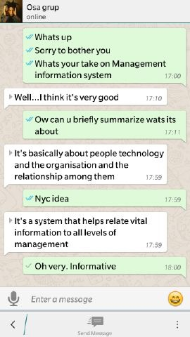 Chats about management information systems