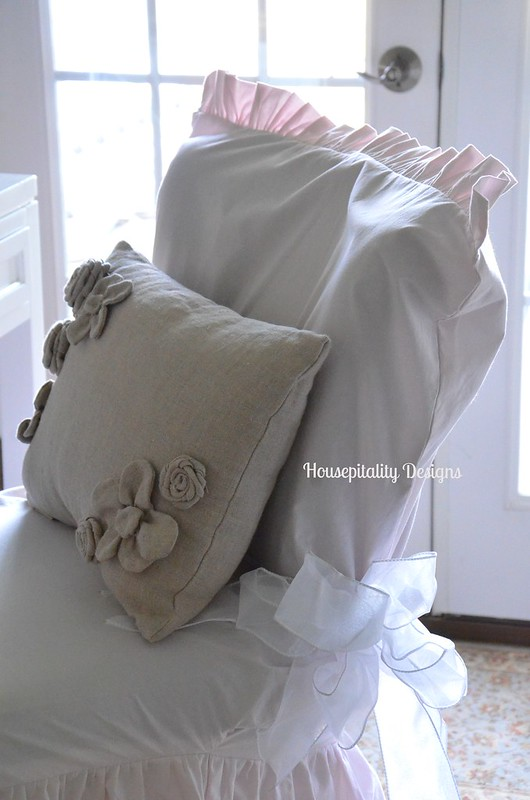 Ruffled Slipcover-Housepitality Designs