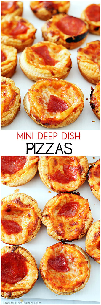 Mini Deep Dish Pizzas | Cinnamon-Spice & Everything Nice