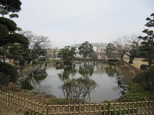 小倉競馬場の日本庭園の様子