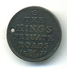 Chelsea, The King's Private Roads obverse