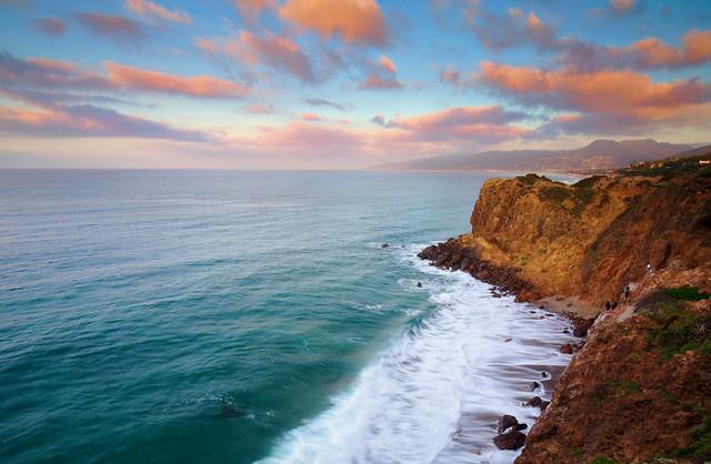 мыс, море, волны