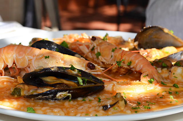 Seafood risotto, Lungo Mare, Maestral Bay, Zadar, Croatia