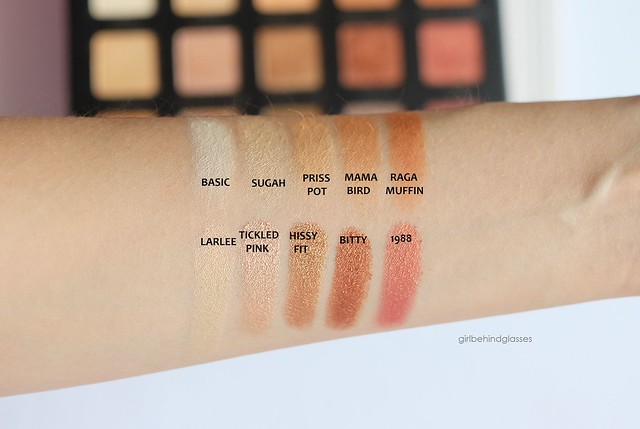 Violet Voss Cosmetics Laura Lee Palette swatches1
