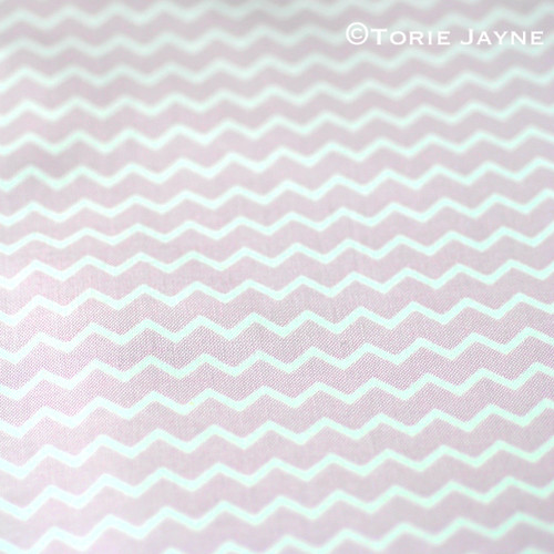 Chevron Fabric in pastel violet from Gütermann
