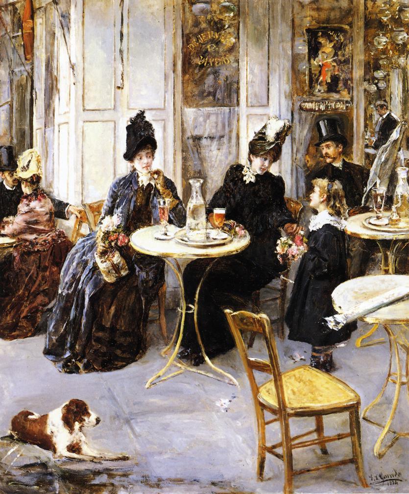 A Parisian Cafe by Edouaro Leon Garrido - 1886