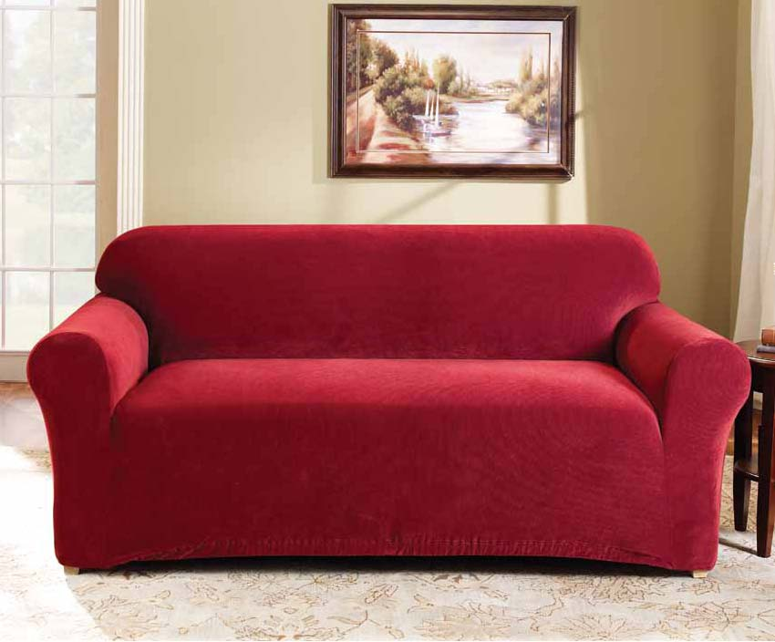 surefit stretch sofa lounge couch covers 1 seater 2 seater 3 seater ebay. Black Bedroom Furniture Sets. Home Design Ideas