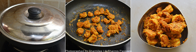 How to make prawn fry - Step3