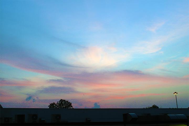sunset singapore