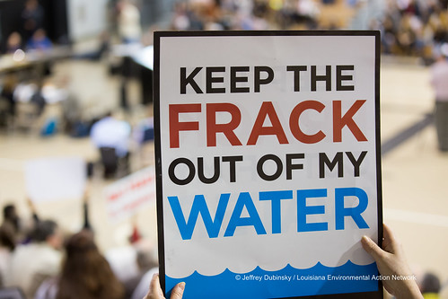Image of anti-fracking sign