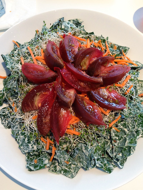 Raw kale caesar