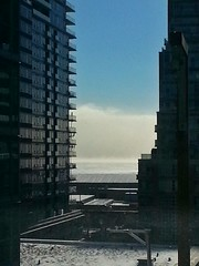 Lake Ontario evaporating