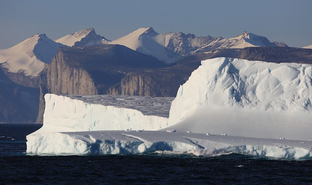 Icebergs Approach into Gibbs Fiord 3 Baffin Island Canada High Arctic - EXPLORED