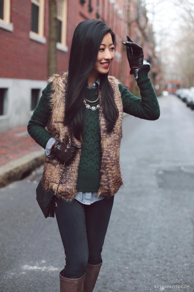 Image result for faux fur vest