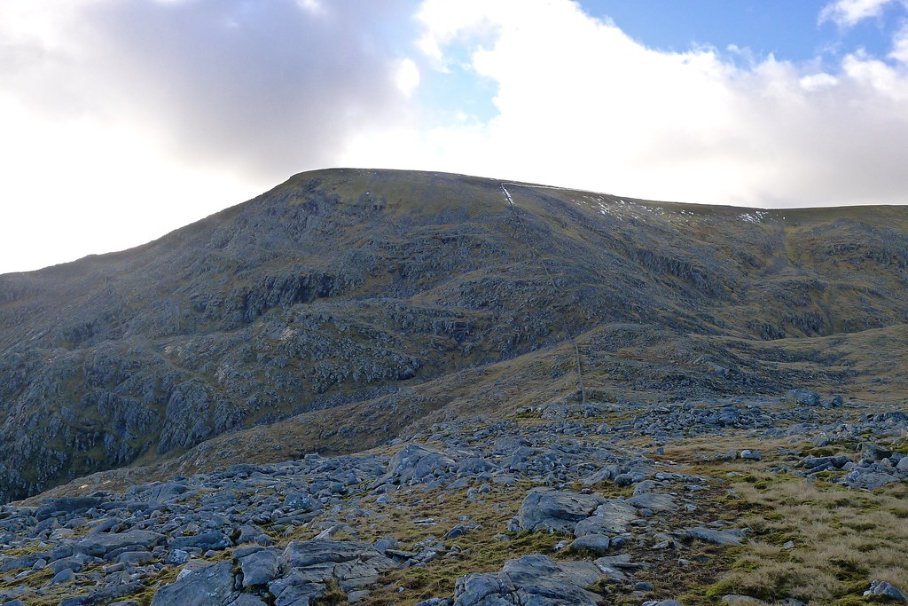 The north side of Beinn Dearg (with wall)