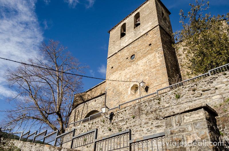 iglesia de Borau en la Jacetania
