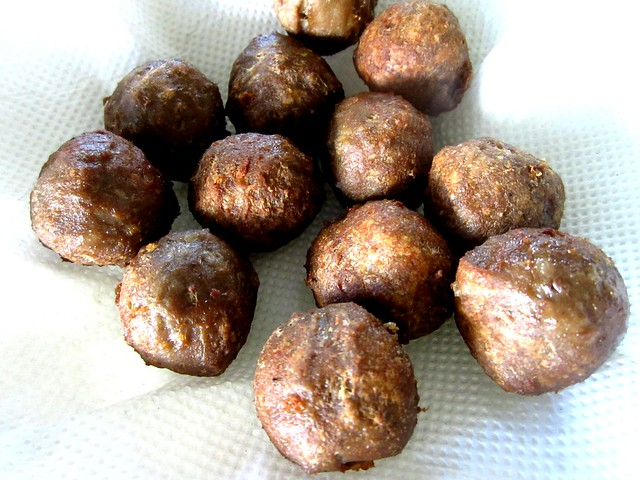 Meatballs, fried