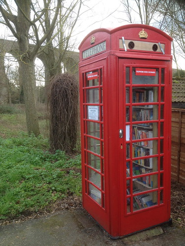 Wakes Colne telephone box book exchange