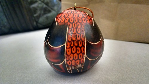 Owl Gourd Christmas Ornament