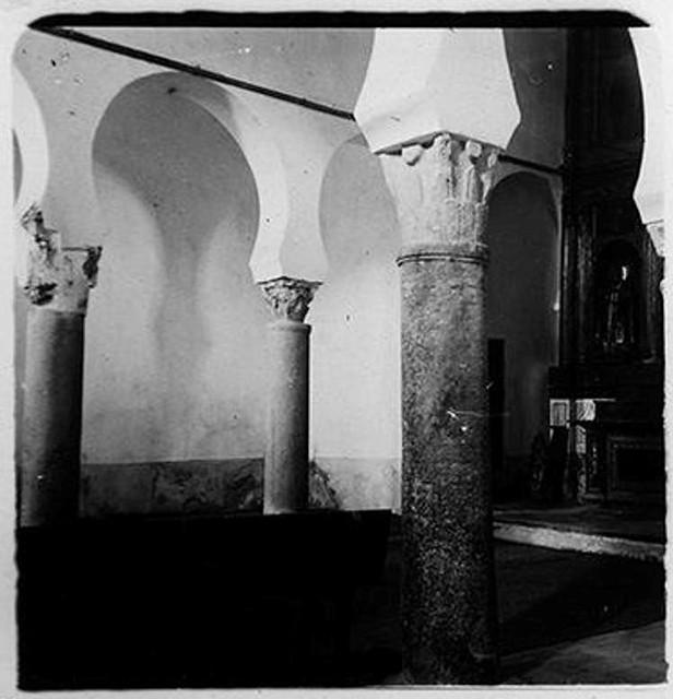 Iglesia de San Sebastián en 1900. Fotografía de Augusto T. Arcimis © Fototeca del IPCE, MECD. Signatura ARC-0707_P